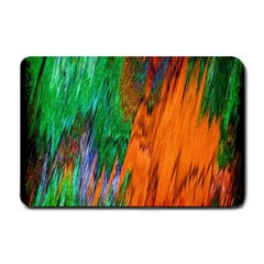 Watercolor Grunge Background Small Doormat