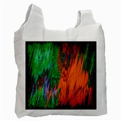 Watercolor Grunge Background Recycle Bag (two Side)