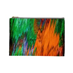 Watercolor Grunge Background Cosmetic Bag (Large)