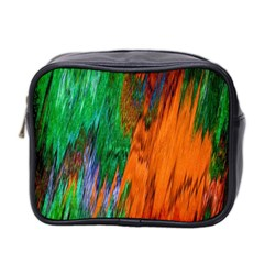 Watercolor Grunge Background Mini Toiletries Bag 2 Side
