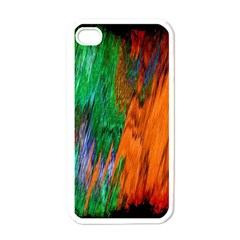 Watercolor Grunge Background Apple iPhone 4 Case (White)
