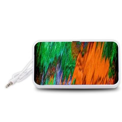 Watercolor Grunge Background Portable Speaker (White)