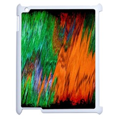 Watercolor Grunge Background Apple iPad 2 Case (White)