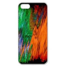 Watercolor Grunge Background Apple Seamless iPhone 5 Case (Clear)