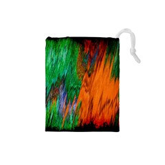 Watercolor Grunge Background Drawstring Pouches (Small)