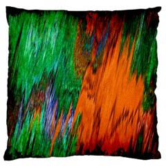 Watercolor Grunge Background Large Flano Cushion Case (One Side)