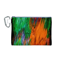 Watercolor Grunge Background Canvas Cosmetic Bag (M)