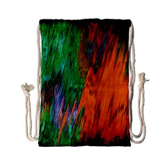 Watercolor Grunge Background Drawstring Bag (Small)