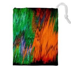 Watercolor Grunge Background Drawstring Pouches (XXL)