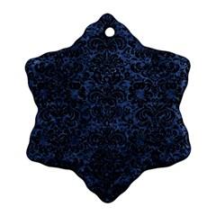DMS2 BK-MRBL BL-STONE (R) Ornament (Snowflake)