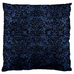 Damask2 Black Marble & Blue Stone (r) Standard Flano Cushion Case (two Sides)