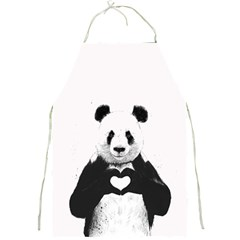 Panda Love Heart Full Print Aprons