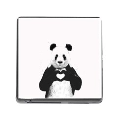 Panda Love Heart Memory Card Reader (square)