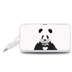 Panda Love Heart Portable Speaker (White)
