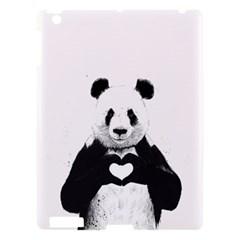 Panda Love Heart Apple iPad 3/4 Hardshell Case
