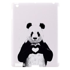 Panda Love Heart Apple iPad 3/4 Hardshell Case (Compatible with Smart Cover)