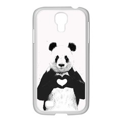 Panda Love Heart Samsung GALAXY S4 I9500/ I9505 Case (White)