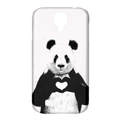 Panda Love Heart Samsung Galaxy S4 Classic Hardshell Case (PC+Silicone)