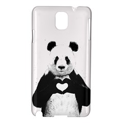 Panda Love Heart Samsung Galaxy Note 3 N9005 Hardshell Case