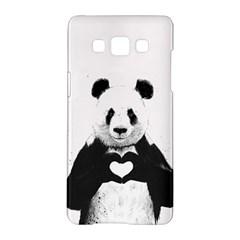 Panda Love Heart Samsung Galaxy A5 Hardshell Case