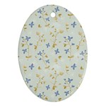 Vintage Hand Drawn Floral Background Ornament (Oval) Front