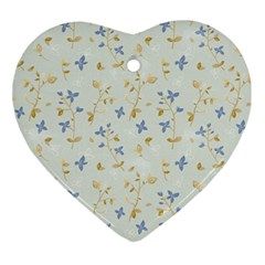 Vintage Hand Drawn Floral Background Ornament (Heart)