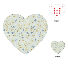 Vintage Hand Drawn Floral Background Playing Cards (Heart)