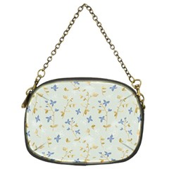 Vintage Hand Drawn Floral Background Chain Purses (Two Sides)