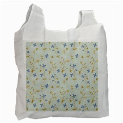 Vintage Hand Drawn Floral Background Recycle Bag (Two Side)