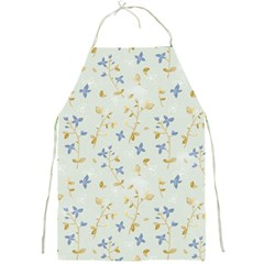 Vintage Hand Drawn Floral Background Full Print Aprons