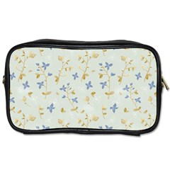 Vintage Hand Drawn Floral Background Toiletries Bags