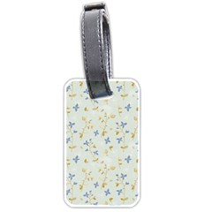 Vintage Hand Drawn Floral Background Luggage Tags (Two Sides)