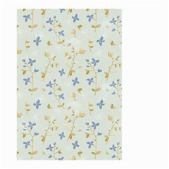 Vintage Hand Drawn Floral Background Small Garden Flag (Two Sides)