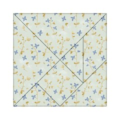 Vintage Hand Drawn Floral Background Acrylic Tangram Puzzle (6  x 6 )