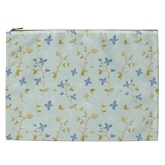 Vintage Hand Drawn Floral Background Cosmetic Bag (XXL)