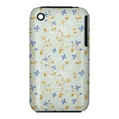 Vintage Hand Drawn Floral Background iPhone 3S/3GS