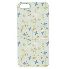 Vintage Hand Drawn Floral Background Apple iPhone 5 Hardshell Case with Stand