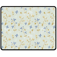 Vintage Hand Drawn Floral Background Double Sided Fleece Blanket (Medium)