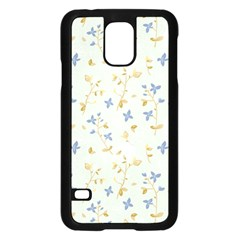 Vintage Hand Drawn Floral Background Samsung Galaxy S5 Case (Black)