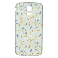 Vintage Hand Drawn Floral Background Samsung Galaxy S5 Back Case (White)