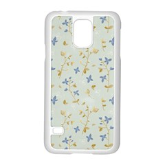 Vintage Hand Drawn Floral Background Samsung Galaxy S5 Case (White)