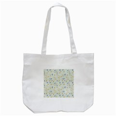 Vintage Hand Drawn Floral Background Tote Bag (White)