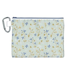 Vintage Hand Drawn Floral Background Canvas Cosmetic Bag (L)