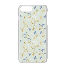Vintage Hand Drawn Floral Background Apple Iphone 7 Plus White Seamless Case