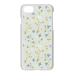 Vintage Hand Drawn Floral Background Apple Iphone 7 Seamless Case (white)
