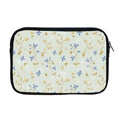 Vintage Hand Drawn Floral Background Apple Macbook Pro 17  Zipper Case
