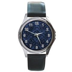 DMS1 BK-MRBL BL-STONE (R) Round Metal Watch
