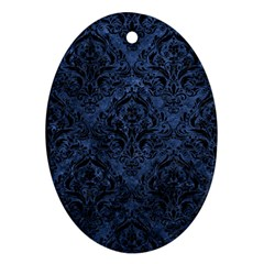 DMS1 BK-MRBL BL-STONE (R) Oval Ornament (Two Sides)