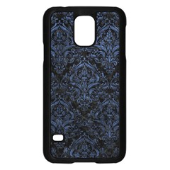 Damask1 Black Marble & Blue Stone Samsung Galaxy S5 Case (black)
