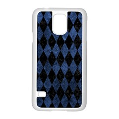 Diamond1 Black Marble & Blue Stone Samsung Galaxy S5 Case (white)